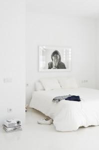 純白のベッドエリア