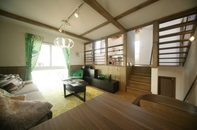 2段に分かれた中二階のセカンドリビング名古屋東1