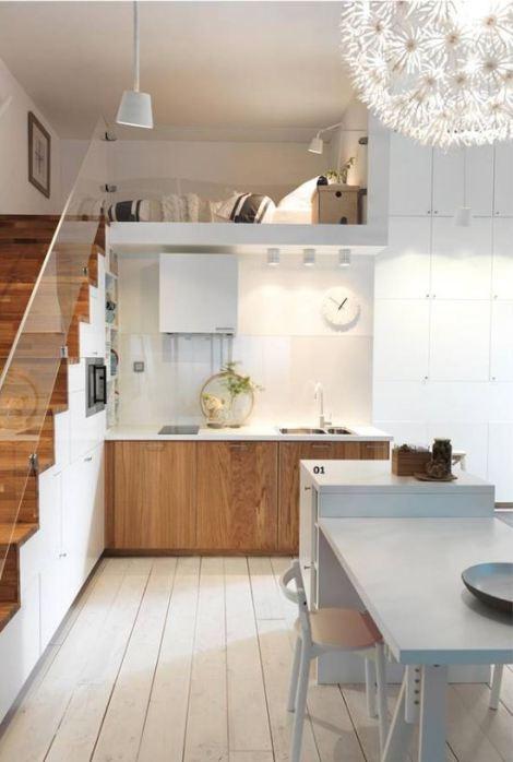 ロフトスペース付きのキッチン