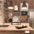 5畳くらいのコンパクトで使い勝手の良さそうなキッチン