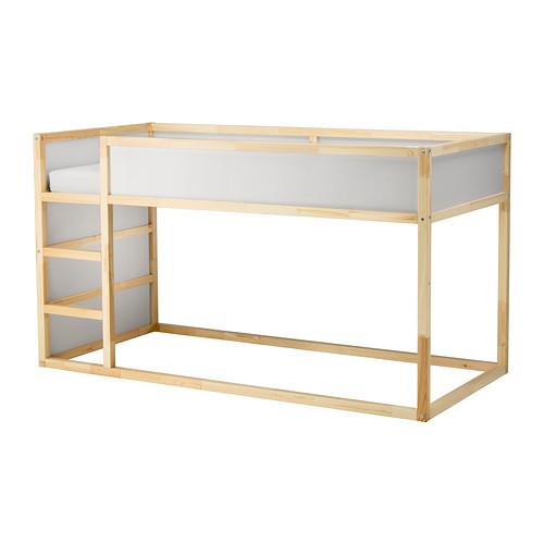 IKEAの木製リバーシブルベッドフレームKURA1