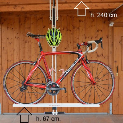 自転車駐輪用ラックflat-bike-liftのサイズ 地上高 高さ240cm